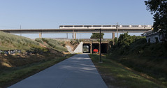 A new section of the Beltline has been completed - here the MARTA train can be seen passing overhead (MuTant 99) Tags: urban city atlanta oaklandcity georgia beltline marta canon70d