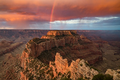 Cape Royal Sunrise (Jeremy Duguid) Tags: cape royal sunrise dawn morning grand canyon nationl park wotans throne jeremy duguid sony rainbow rainbows nature landscape travel arizona az southwest west beauty