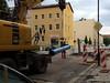 Der Rohrverleger (julia_HalleFotoFan) Tags: hallesaale baustelle rohre thomasiusstrase