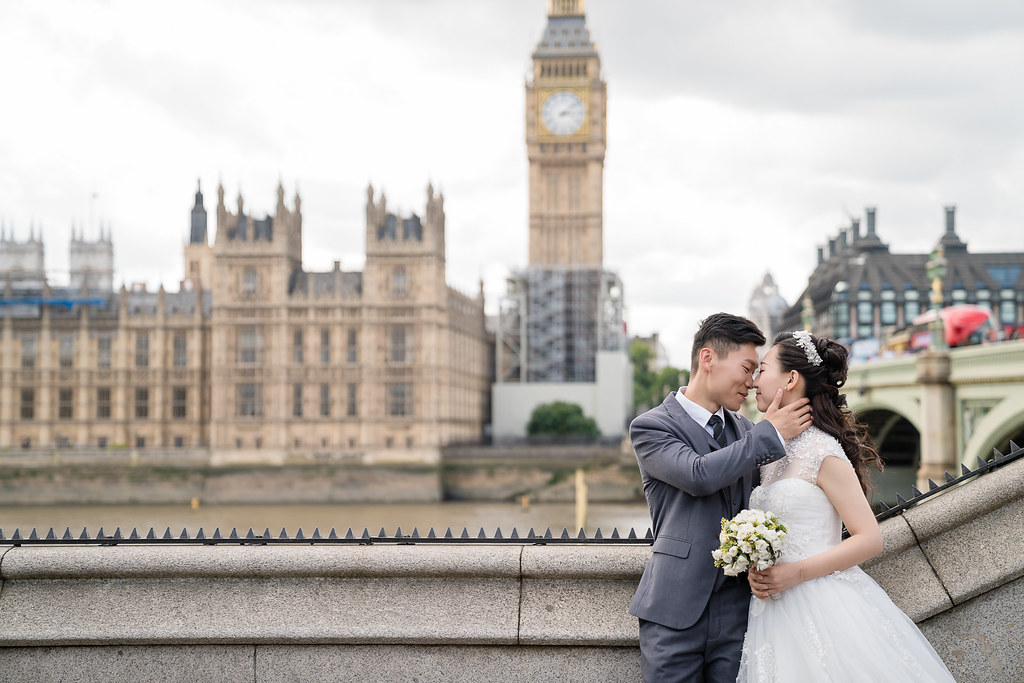 倫敦,婚紗,情感,互動