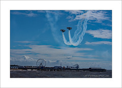 Thrill seekers (prendergasttony) Tags: pier lancashire england nikon d7200 beach ferris wheel outdoors clouds waves mm blackpool seaside coast coastal airshow aviation fairground rollercoaster bigdipper weather sea sky ƒ140 550 11600 iso400 trig team