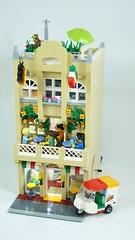 [MOD] [MOC] 41311 - Heartlake Pizzeria 1.0 01 (-Nightfall-) Tags: lego moc mod modularbuilding modular friends pizzeria 41311 scooter
