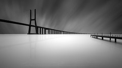 Dreaming in black and white, Vasco de gama (sgsierra) Tags: vasco de gama puente bride portugal lisboa black white fine art city ciudad long exposure