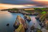 Nohoval Cove (Michał.Włodarczyk) Tags: sea seascape water ocean rocks sun sunset clouds bay ireland cork canon 6d