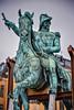 Equestrian statue of King Gustav II Adolf on Slottsbacken - Castle Slope - Stockholm Sweden