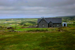 Irish landscape (annalisabianchetti) Tags: irlanda ireland europa landscapes countryside county cottage house clouds green paesaggio