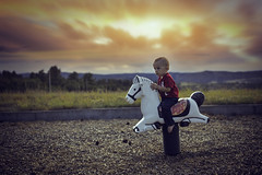 The Adventure of a Little Boy (miss.interpretations) Tags: sunset nostalgia adventures children childlike innocence littleboy baby toddler outdoors nature horse ride fun grass meadows mountains skies golden pink peach trees playground sedalia colorado rachelbrokawphotography missinterpretations