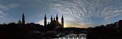 El Pilar Panoramica (Antonio Goya) Tags: pilar zaragoza españa spain aragon atardecer sunset basilica basilicadelpilar clouds nubes panoramica omd olympus dng xataca dzoom backlight contraluz silueta micro43