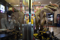 * (Sakulchai Sikitikul) Tags: street snap streetphotography songkhla sony voigtlander thailand hatyai a7s mcdonald dinosaur mirrorview mirror coffee 28mm
