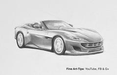 How to Draw a Ferrari Portofino - a Narrated Sketch (fineart-tips) Tags: art drawing finearttips ferrariportofino car tutorial artistleonardo leonardopereznieto patreon sketch