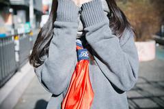 High School Girl Not Allowed To Show Her Face (Dick Thomas Johnson) Tags: japan tokyo shibuya harajuku 日本 東京 渋谷 原宿 highschoolgirl 女子高生 jk highschoolstudent 高校 高校生 highschool student 制服 uniform ポートレート portrait muffler マフラー
