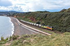 MT's (Teignstu) Tags: dawlishwarren devon railway seawall colas class70 70813 cement freight