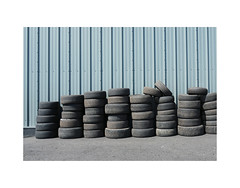 tyres (chrisinplymouth) Tags: wall building automobile tyre car plymouth devon england uk urban cw69x industrial tire wb 2017 plymgrp city