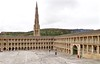 Halifax West Yorkshire 21st September 2017 (loose_grip_99) Tags: olympus digital camera halifax west yorkshire england uk piece hall georgian history church spire city cityscape beacon hill arcade wool cloth industry square architecture september 2017