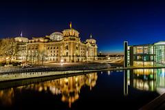 Reichstag building :: Berlin Germay (K.H.Reichert) Tags: night deutschland spree regierungsviertel reflection nachtaufnahme politik reflexion berlin nightshot reichstagskuppel bundestag spiegelung germany architektur reichstag nachtfoto de