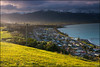 Moody evening light (katepedley) Tags: kaikoura southisland south island new zealand newzealand canterbury canterburynz coast coastal coastline ocean canon 5d 1740mm polariser gndfilter tripod sunset evening light moody sunlight town township lookout peninsula