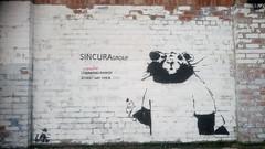 Street art,  Blundell Street, LIverpool (rylojr1977) Tags: streetart rat banksy liverpool urban stencil graffiti wall