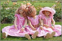 Schlosstrio ... (Kindergartenkinder) Tags: schlossanholt dolls himstedt annette park kindergartenkinder sommer wasserburg tivi margie sanrike personen isselburg garten