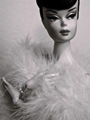 B&W Challenge: Bella in B&W (smittenwithb) Tags: bella matthewsuttonrepaint ooaksilkstone barbie hybrid frankendolly