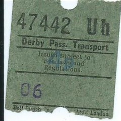 Derby Passenger Transport Bus Ticket (Ray's Photo Collection) Tags: scan scanned document derby passenger transport bus ticket derbyshire buses travel