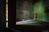 Boy In A Mausoleum #2 (john&mairi) Tags: maxwells monreith kirkmaiden machars dumfriesgalloway scotland alastair mausoleum chiaroscuro light shadow door spade shovel familyholiday