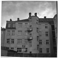 Lo-Fi autumn | Keep exploring (Mattias Lindgren) Tags: lubitel166 mediumformat paranols 6x6 analog autumn bw film linköping lofi lomo mf patina retro400s rollei scan sweden