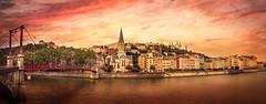 Panorama de Lyon (Juan Figueirido) Tags: lyon france francia french francés europe europa ródano bridge puente pano panorama rhode alps alpes