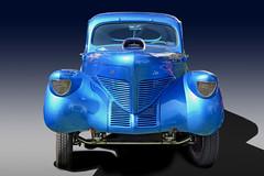 Stare Down (Brad Harding Photography) Tags: 1939 39 olmaraisriverruncarshow ottawa kansas gasser hotrod streetrod dragster antique restoration restored chrome classic vintage blue