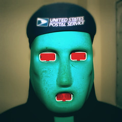 The_Boxer (sebastian.ms1992) Tags: hat weird lights united states us postal service boxing training dummy man boxer green face red eyes spooky