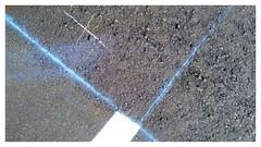 X with Blue lines (plismo) Tags: road lines bluelines x minimalism plismo asphalt paint white peterborough ontario canada chalk chalklines
