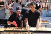 Preparing the takoyaki
