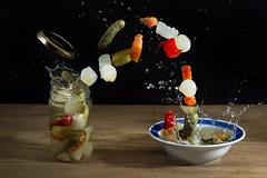 giardiniera: una tira l'altra.. :-P (Antonio Iacobelli (Jacobson-2012)) Tags: giardiniera sottaceti pickles verdure aceto vinegar jare splash bari nikon d800 nikkor 60mm