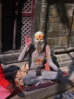 NEPAL, Pashupatinath,Hindutempel und Verbrennungsstätte, Sadhu, 16359/8664