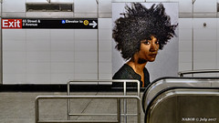 Manhattan, New York: Second Avenue subway 86th Street station mural of riders (nabobswims) Tags: lightroom mta manhattan metro mural ny nabob nabobswims newyork sel18105g secondav sonya6000 station subway ubahn unitedstates us