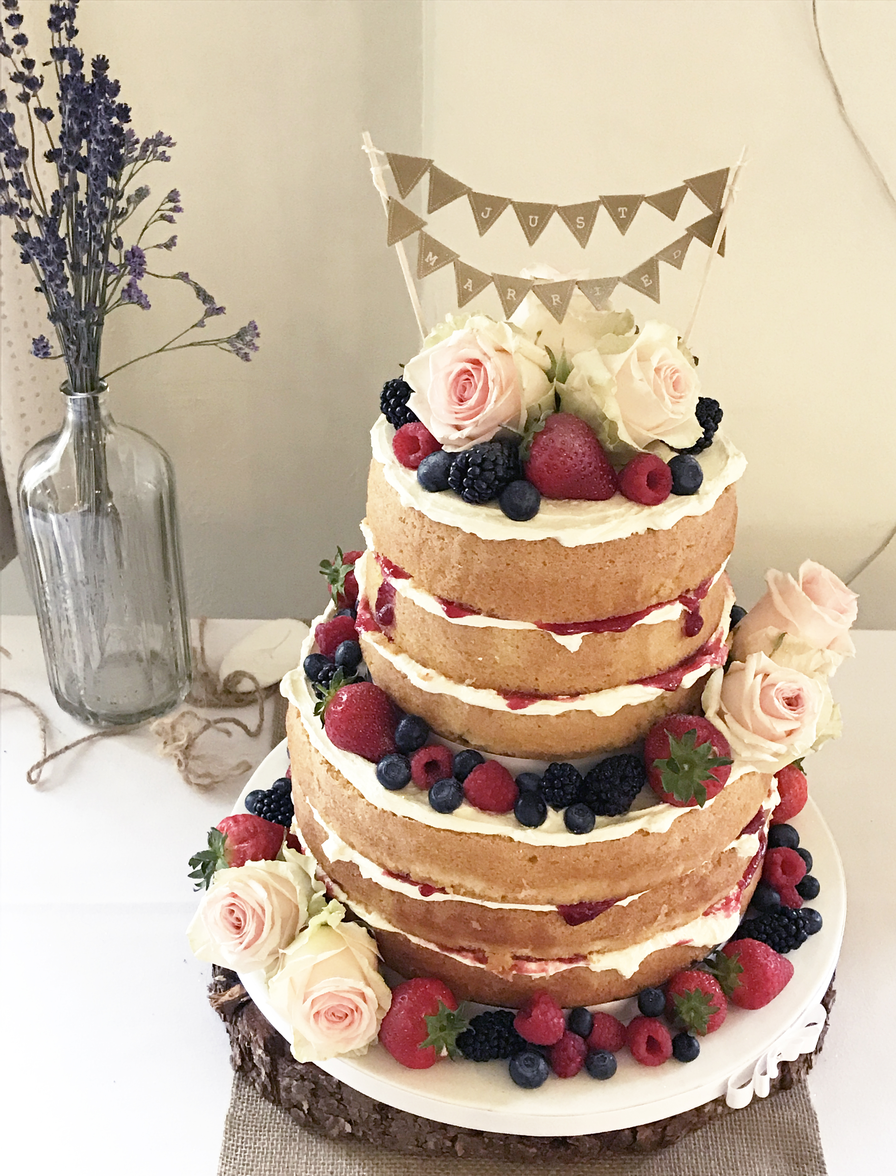 2 Tier Naked Cake