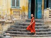 Happy Monk (Unvoyageur) Tags: asia asie cambodge cambodia moine monk orange aasia