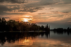 (jennbrowning) Tags: reflections orange tranquility serene peaceful clouds sky water cottagecountry sunset