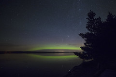 Northern lights (Peter Stahl Photography) Tags: northernlights auroraborealis starrynight green lake water