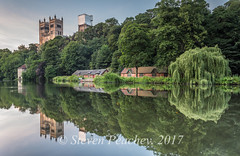 Cathedral Reflections (Steven Peachey) Tags: landscape durham durhamcathedral river water reflections canon6d ef1740mmf4l leefilters lee09gnd stevenpeachey lightroom trees canon evening light countydurham riverwear durhamcity explored explore