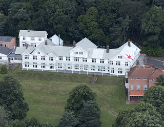 Mundesley Hospital built for the open air treatment of TB - Norfolk aerial image