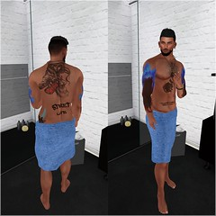 Morning Shower (Wredziaa & Fabian50000pl) Tags: samtattos ~bbd~poses accessories event fabian fb flickr hashtag necklace outfit poses r2a swallow tattoo towel wffashion