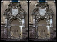 Portal of post office 3-D / Stereoscopy / CrossEye / HDRaw