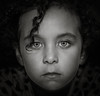 """""""When you photograph a face . . .you photograph the soul behind it. Jean-Luc Godard (Lorrainemorris) Tags: moody soul eyes child face blackandwhite portrait"""