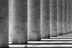 _DSC5055 (Alepan) Tags: roma eur rome architettura geometrie contrasto urban street geometric composition perspective pattern city abstract blackandwhite buildings lines