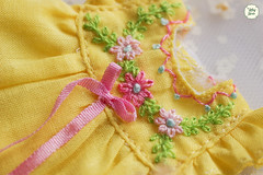 Handmade Embroidered Dresses (Ylang Garden) Tags: embroidered handmade thread latiyellow pukifee