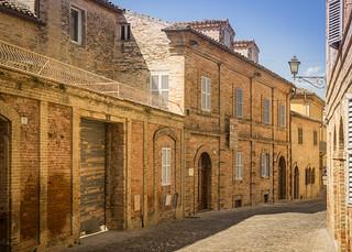 Street in Offida (Prov. Ascoli Piceno, Marche, Italy)