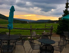 Mountain State Brewing Co (karma (Karen)) Tags: mchenry maryland garrettco restaurants mountainstatebreweryco mountains fields sunsets tables chairs umbrellas hff