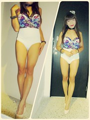 This swimsuit is so pretty, isn't it? (Anina N.) Tags: transgender transgirl trap tranny transvestite tg tgurl tgirl tv cd crossdressing crossdress crossdresser asian swimsuit highheels