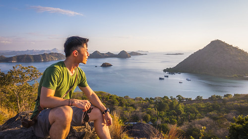 Sunset at Waicecu Hill in Labuan Bajo