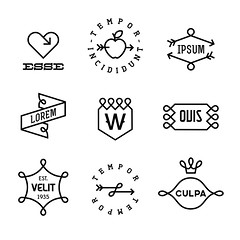 vintage labels (DelphHealf) Tags: antique art artwork banner brand badge clipart design drawing element emblem ensign engraving frame graphic icon isolated illustration insignia label print retro sign symbol tag vector vintage heraldry tattoo trendy sticker stamp monochrome monogram old strong hipsterstyle arrow ribbon scroll tape apple fruit leaf heart love crown shield black white